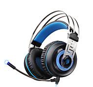 Недорогие -sades a7 USB 7.1 объемный звук профессиональный стерео игровые наушники синий привело освещения наушники с микрофоном для портативных ПК
