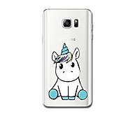 preiswerte -Hülle Für Samsung Galaxy Ultra dünn Muster Rückseite Einhorn Weich TPU für Note 5 Note 4 Note 3
