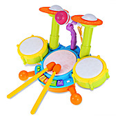 LED Lighting Toys Drum kit Drum Set Plastic Metal Pieces Children's Gift