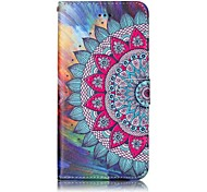 cheap -Case For Apple iPhone X iPhone 8 Wallet with Stand Flip Magnetic Pattern Embossed Full Body Cases Mandala Hard PU Leather for iPhone X