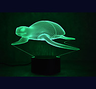 Christmas Sea Turtles Touch Dimming 3D LED Night Light 7Colorful Decoration Atmosphere Lamp Novelty Lighting Christmas Light