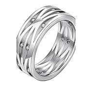 Damen Ring Modisch individualisiert Euramerican Luxus-Schmuck Sterling Silber vergoldet Rose Gold überzogen Kreisform Schmuck Für Party