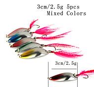 "cheap -5 pcs Fishing Lures Spoons g / Ounce, 30 mm / 1-1/4"" inch, Metal Sea Fishing Spinning Freshwater Fishing General Fishing Lure Fishing"