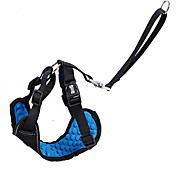 Dog Harness Car Seat Harness/Safety Harness Adjustable / Retractable Breathable Safety Training Running Solid Fabric Black