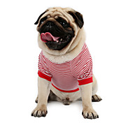 Cat Dog Shirt / T-Shirt Sweatshirt Vest Dog Clothes Classic Cute Holiday Casual/Daily Fashion Sports Stripe Red Blue Costume For Pets