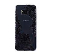 Para samsung galáxia s8 mais s8 caso tampa lace impressão padrão gota cola verniz alta qualidade tpu material telefone caso s7 borda s7 s5