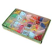 Недорогие -Лабиринты и логические головоломки 3D куб-головоломка Игрушки Квадратный Металл Куски Не указано Универсальные Подарок