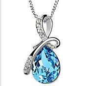 Недорогие -Синтетический алмаз Ожерелья-бархатки / Ожерелья с подвесками / Ожерелья-цепочки - Искусственный жемчуг, Стразы Свисающие, Друзья, Цветы На заказ, Уникальный дизайн, В виде подвески