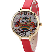 cheap -Women's Fashion Watch Wrist Watch Quartz PU Band Unique Creative Cool Casual Cute Silver Powder Multi-colored Owl Alloy Dial Watches