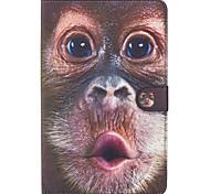 Недорогие -Кейс для Назначение SSamsung Galaxy Бумажник для карт Кошелек со стендом Флип Магнитный С узором Чехол Животное Твердый Кожа PU для Tab E