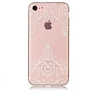 cheap -Case For Apple iPhone X iPhone 8 IMD Transparent Pattern Back Cover Lace Printing Soft TPU for iPhone X iPhone 8 Plus iPhone 8 iPhone 7
