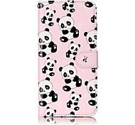 Для iphone 7 плюс 7 panda узор лакирование процесс тиснение pu кожаный материал телефон корпус 6s плюс 6s 6 5s se 5