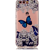 For Huawei P8 Lite (2017) P10 Lite TPU Material IMD Process Blue Butterfly Pattern Phone Case P10 P9 Lite P8 Lite