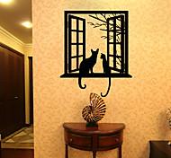 Недорогие -Животные Отдых Праздник Наклейки 3D наклейки Декоративные наклейки на стены 3D, Бумага Украшение дома Наклейка на стену Стена Окно