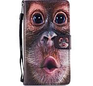 Недорогие -Кейс для Назначение SSamsung Galaxy J5 (2016) Бумажник для карт Кошелек со стендом Флип Магнитный С узором Чехол Животное Твердый Кожа PU