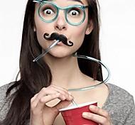 Недорогие -1pcs смешные мягкие очки соломы уникальный гибкий питьевой трубки дети аксессуары партии