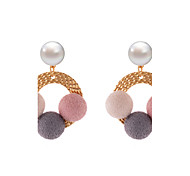Lureme New Rainbow Cloud with Cute Colorful Velvet Balls Stud Earrings for Girls