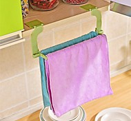 cheap -1Pcs  Seamless Paste Perforation Free Towel Rack Hanging Towel Kitchen Toilet Bathroom Towel Rack Random Color