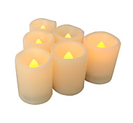 Set of 6 Flameless Candles Flameless Votive Candles LED Votives with Timer Battery-operated LED Candles with Timer Long Battery Life
