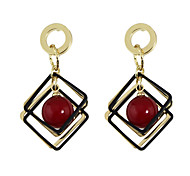 cheap -Women's Imitation Pearl Drop Earrings - Basic Cute Style White Red Geometric Earrings For Daily Casual