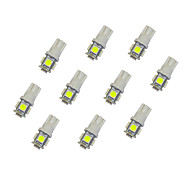 abordables -10pcs T10 Coche Bombillas 0.8W SMD 5050 55lm LED Luces interiores