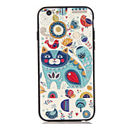 For Apple iPhone 7 7 Plus iPhone 6s 6 Plus Case Cover The Cat Pattern 3D Relief Plastic Back Shell TPU Frame Cases
