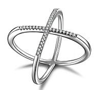 2017 New  X  Fashion Silver Statement Rings AAA Cubic Zirconia Unique Design  Statement Jewelry For Women