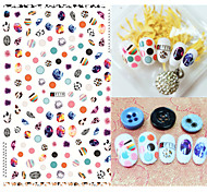 1pcs Fashion Nail Art 3D Stickers Lovely Round Image Colorful Egg Design Nail DIY Beauty Cute Decoration F119