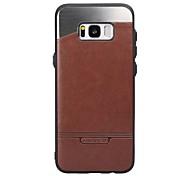 Кейс для Назначение SSamsung Galaxy S8 Plus S8 Защита от пыли Задняя крышка Сплошной цвет Твердый Искусственная кожа для S8 S8 Plus S7 S6