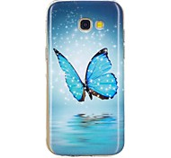 cheap -Case For Samsung Galaxy A5(2017) A3(2017) Glow in the Dark Pattern Back Cover Butterfly Soft TPU for A3(2017) A5(2017) A5(2016) A3(2016)