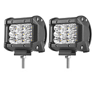 2PCS 27W-Row Flood Spot del Fascio Led Work Light Bar Offroad Led Driving Lampada 12 v 24 v per Camion SUV ATV 4x4 4WD Led Bar