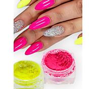 1g/Bottle Fashion Candy Color Nail Art Neon Power DIY Beauty Pigment Magic Neon Effect Power Nail Fluorescent Decoration YE