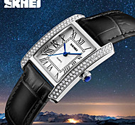 cheap -SKMEI Women's Quartz Dress Watch Fashion Watch Japanese Water Resistant / Water Proof Leather Band Charm Luxury Casual Black White Red