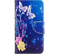 Для huawei p10 lite p8 lite (2017) телефон случай pu кожаный материал желтый узор бабочки окрашенный p10 p9 lite p9 y5 ii честь 6x