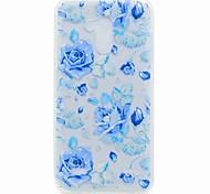 For ZTE V7 V7 Lite Case Cover Translucent Pattern Back Cover Case Blue Rose Soft TPU for ZTE Blade A452