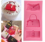 cheap -Random Color Fashion Bags Fondant Chocolate Mold Silicone Mold Fondant Cake Decoration Molds