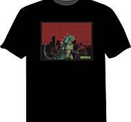 LED T-shirts 100% Cotton Novelty 2 AAA Batteries
