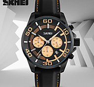 Men's Sport Watch Dress Watch Fashion Watch Japanese Quartz Calendar / date / day Water Resistant / Water Proof Stopwatch Rubber Band