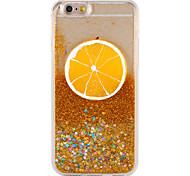 Cas pour apple iphone 7 7 plus fluide liquide motif fruit brillant brillant puissant pc 6s plus 6 plus 6s 6