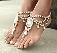 Недорогие -Украшения на ноги - Жен. Золотой Серебряный Ножной браслет Назначение Повседневные
