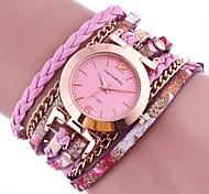 Women's Quartz Colorful Leather Band Charm Bracelet Watch