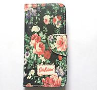 Недорогие -Для Apple iphone 6s iphone 6 чехол чехол для карточек с кошельком с подставкой флип-паттерн полный корпус чехол цветок твердая кожа pu