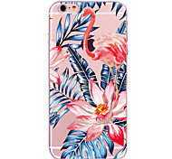 cheap -Case For Apple iPhone X iPhone 8 Transparent Pattern Back Cover Flamingo Flower Soft TPU for iPhone X iPhone 8 Plus iPhone 8 iPhone 7