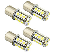 cheap -4PCS 1156 / Ba15s / 1157 3W LED car light bulb 18 SMD 5050 taillight / brake / turn / stop light DC 12V white/warm white