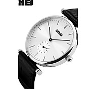 cheap -Men's Quartz Wrist Watch Smartwatch Sport Watch Chinese Water Resistant / Water Proof Large Dial Genuine Leather Band Charm Creative