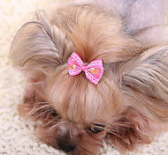 cheap -Hair Accessories Dog Clothes Bowknot Yellow Fuchsia Red Blue Pink Fabric Costume For Pets Men's Women's Cute Casual/Daily Fashion