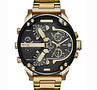 cheap -Men's Quartz Wrist Watch / Military Watch / Sport Watch Chinese Calendar / date / day / Creative / Large Dial / Punk / Cool / Dual Time