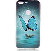 Case For Google Pixel Pixel XL Glow in the Dark Pattern Case Back  Butterfly Soft TPU