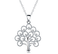 cheap -Men's Women's Tree of Life Shape Fashion Statement Necklace Silver Plated Statement Necklace Daily