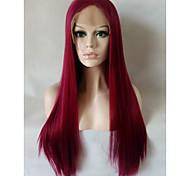 Недорогие -Синтетические кружевные передние парики Прямой Коричневый Жен. Лента спереди Парик из натуральных волос Средние Длинные Искусственные